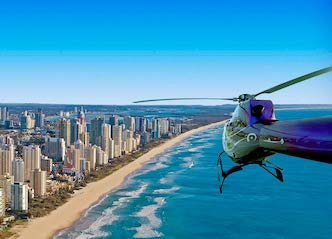 group of bucks gold coast helicopter joy flight
