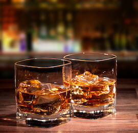 two glasses of whisky