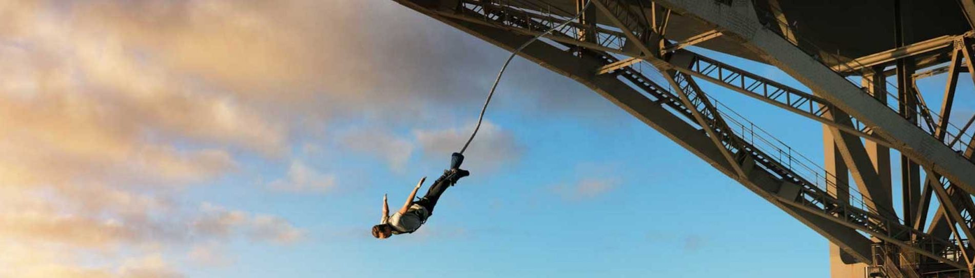 buck bungy jumping off bridge