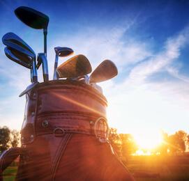 group of bucks playing golf