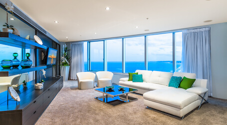 surfers paradise sub penthouse accomodation view over ocean