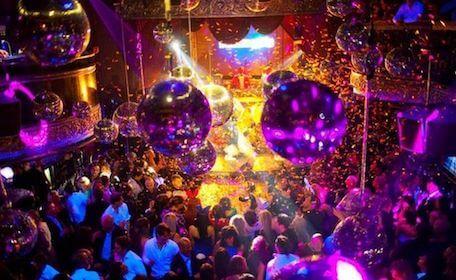 crowd partying at nightclub