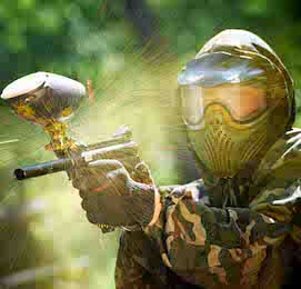 buck playing paintball