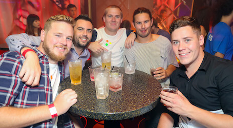bucks group drinking at cairns nightclub
