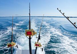 group of bucks on fishing trip