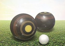 lawn bowls on grass