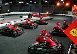 group of bucks on the go kart track in melbourne