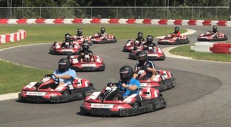 group bucks go karting