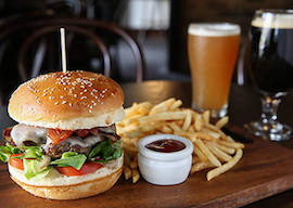 bucks group lunch burger and beer