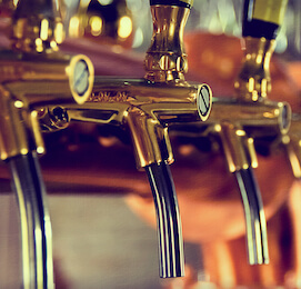 brewery beer taps