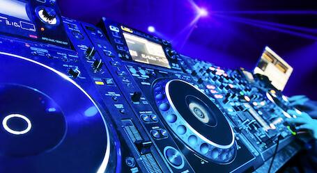 dj nightclub decks