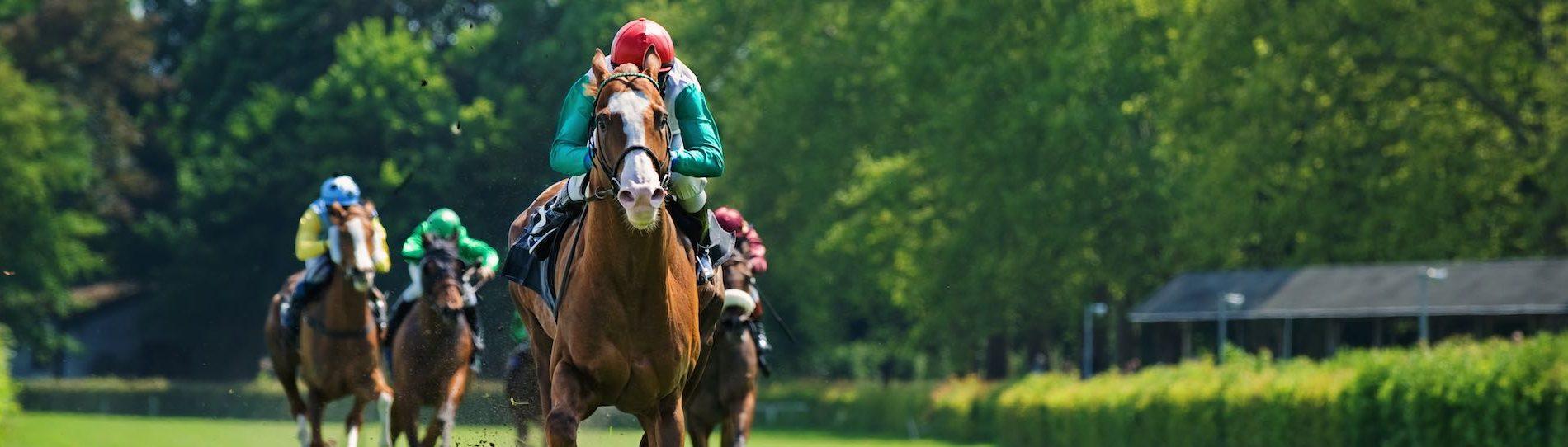 jockey racing horse