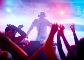 dj playing at sydney nightclub