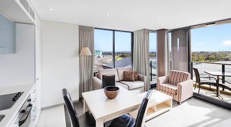 interior of melbourne bucks accommodation apartment