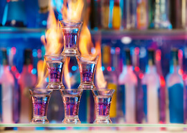 6 flaming party shots