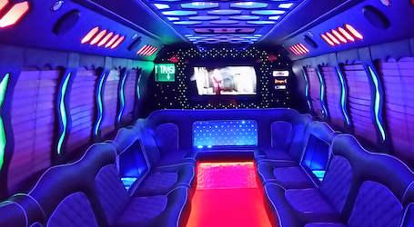 inside of bucks limousine transfer