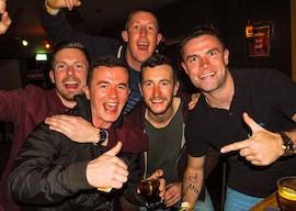 group of bucks partying at nightclub