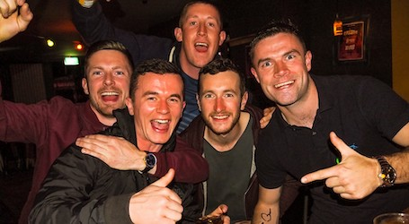 group of bucks drinking at nightclub