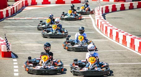group of bucks racing go kart