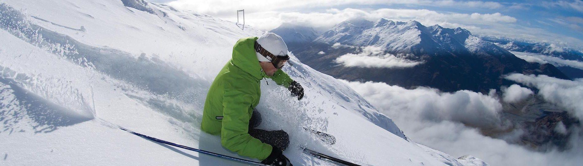 buck snowboarding slopes