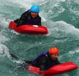 bucks group river surfing