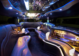 inside of bucks transport stretch hummer