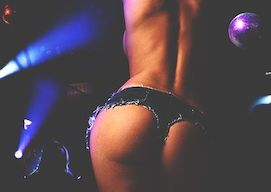stripper performing strip show