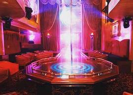 inside of hollywood showgirls dancing stage