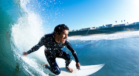 buck surfing in byron bay