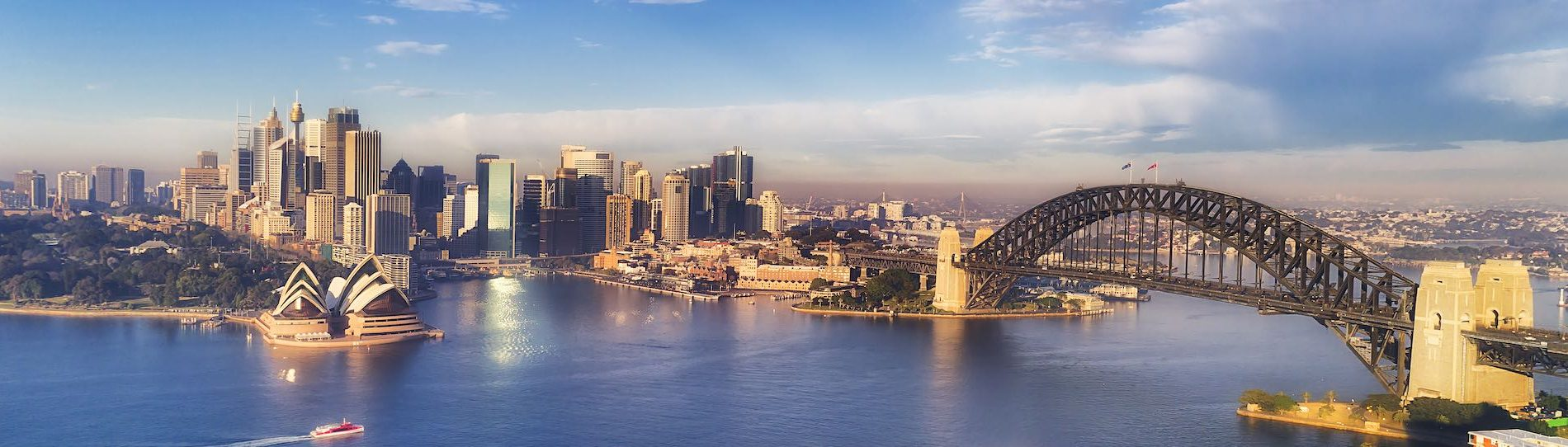 aerial view of sydney city