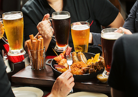 sydney bucks group drinking beers