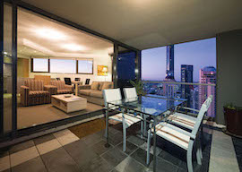 two bedroom balcony apartment in melbourne