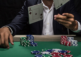 group of bucks playing poker