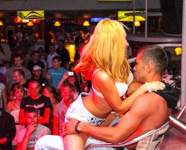 buck getting lap dance at club