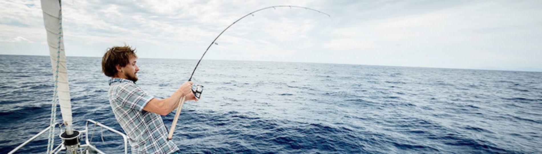 group of bucks deep sea fishing