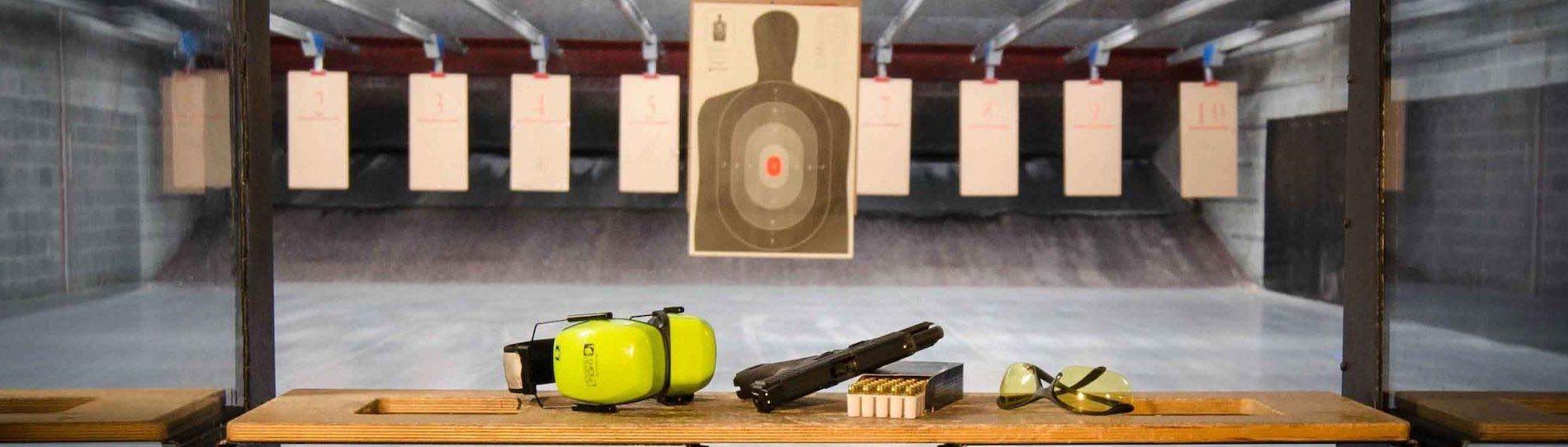 group of bucks at shooting range