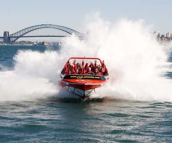 group of bucks riding jet boat