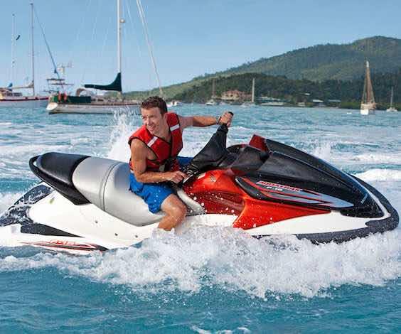 buck riding jet ski