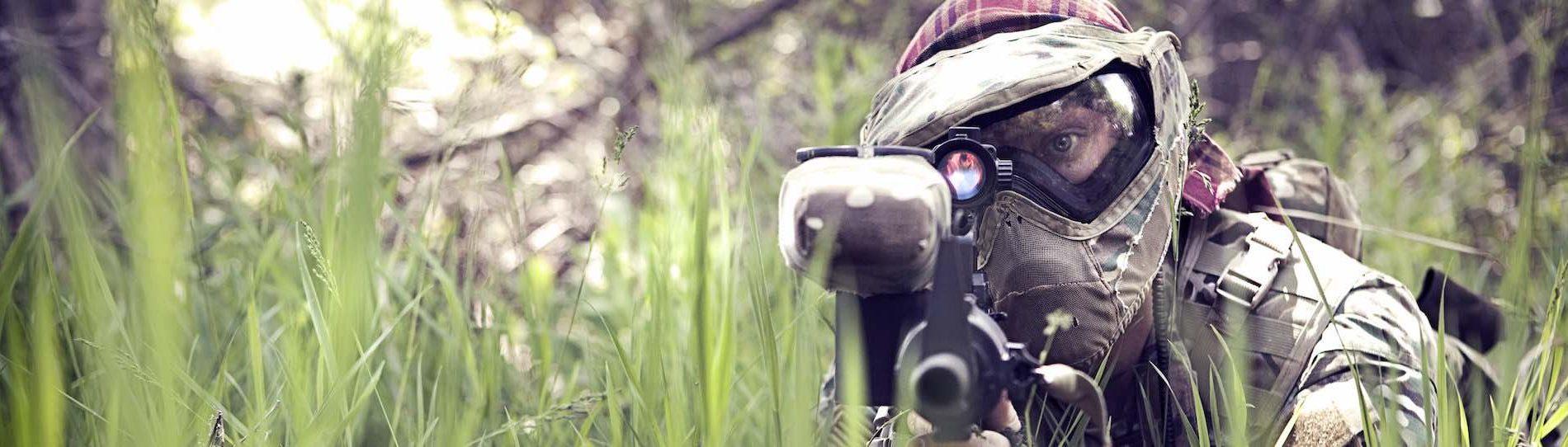 buck shooting paintball gun