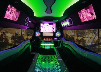 inside of bucks transfer party bus