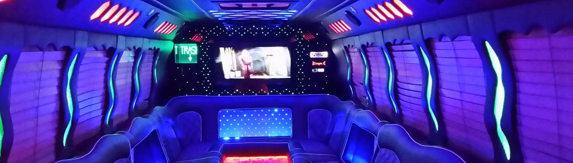 inside of bucks transport party bus