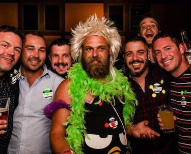 group of bucks at nightclub drinking