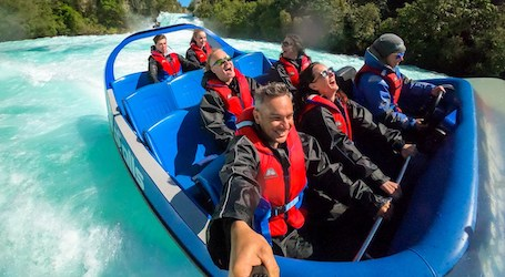 group of bucks on taupo jet boat