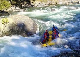 group of bucks white river rafting