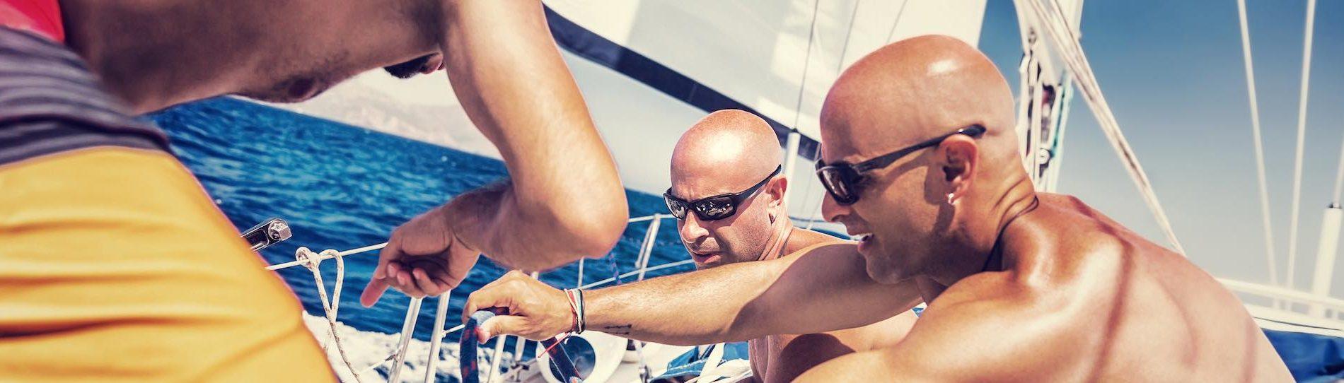 group of bucks on yacht