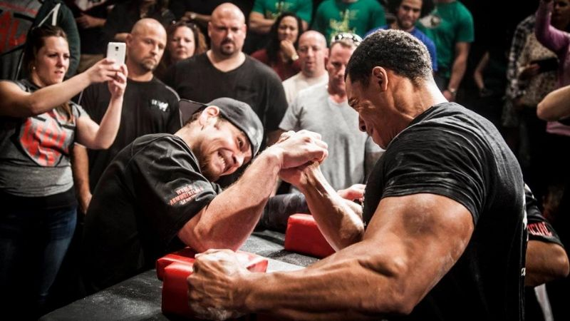 wicked bucks party challenges arm wrestling