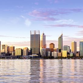 beautiful view of perth city with the water in the fore front