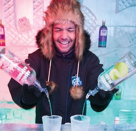 stag party at queenstown ice bar