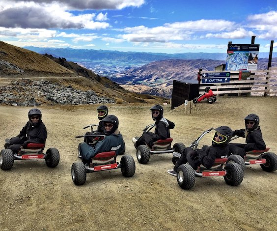 stag party ideas queenstown mountain carting