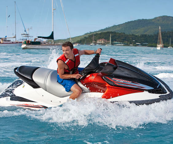 buck riding jet ski in taupo